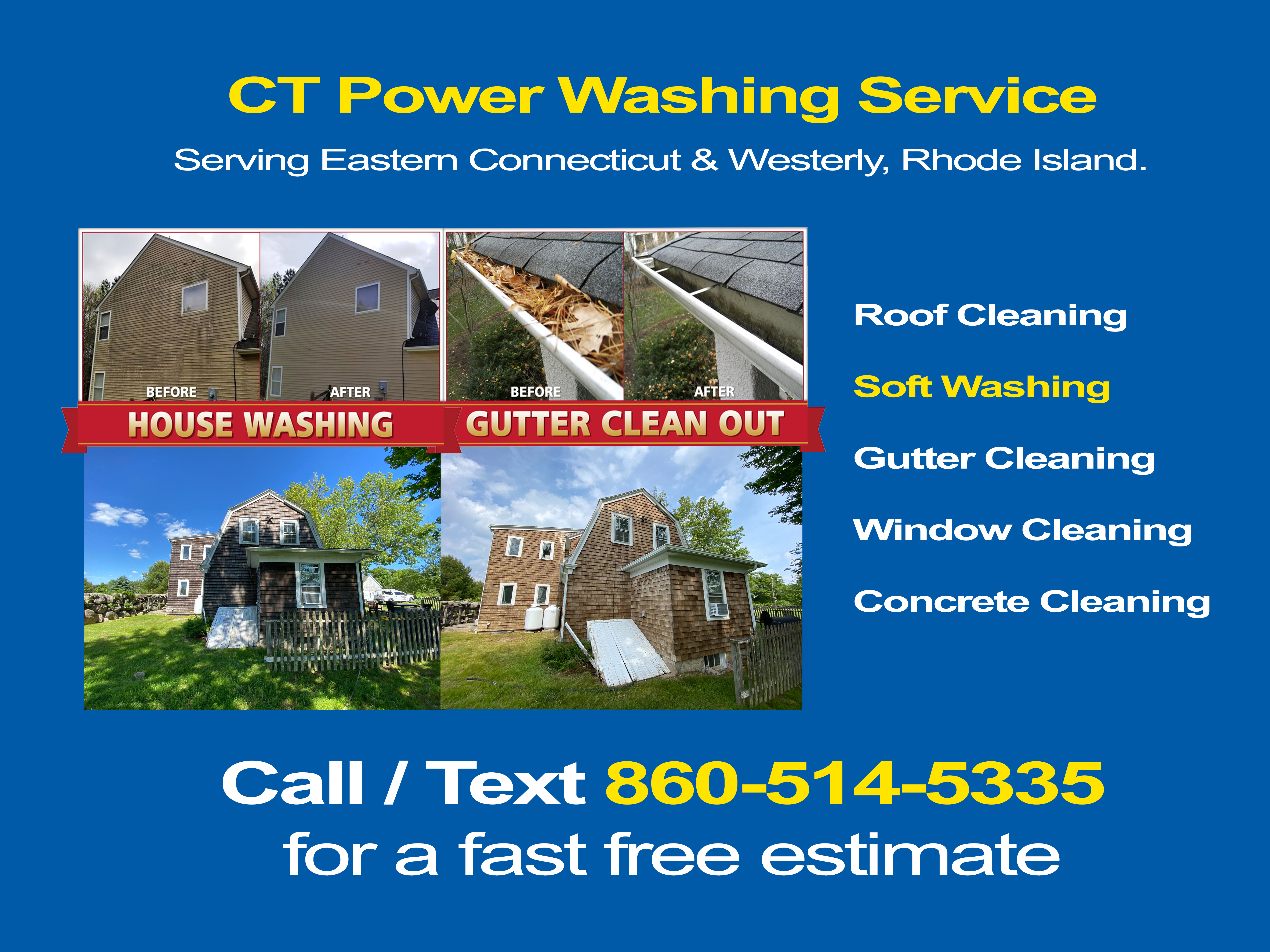 Power Washing Service in Westerly RI | Roof Cleaning, Soft-washing Service